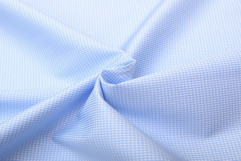 Blue Dobby Wrinkle Free Checks Shirt 806119-(2)