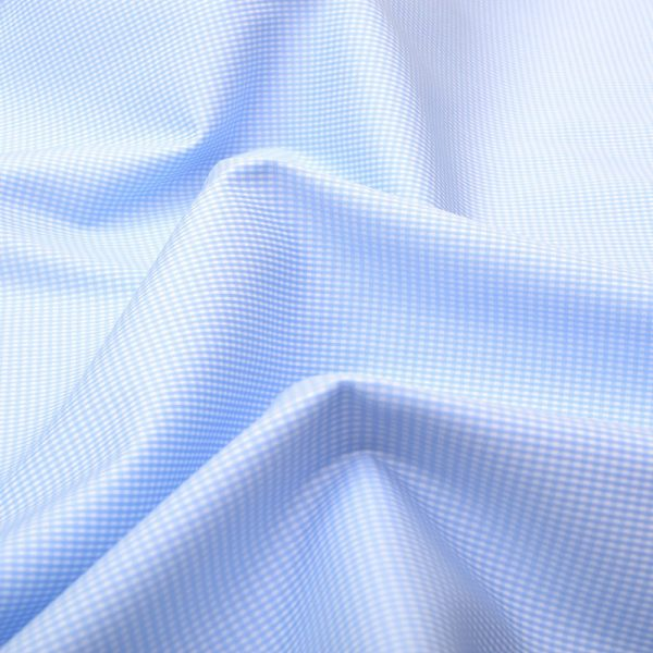 Blue Dobby Wrinkle Free Checks Shirt 806119-(3)