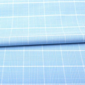 Blue Glen Plaid Wrinkle Free Shirt 806122 (2)
