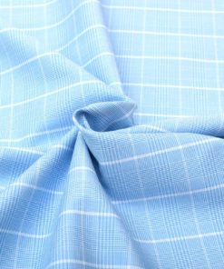 Blue Glen Plaid Wrinkle Free Shirt 806122 (3)