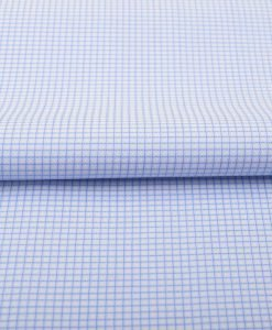 Sky Blue Wrinkle Free Mini Checks Shirt 806129-(1)