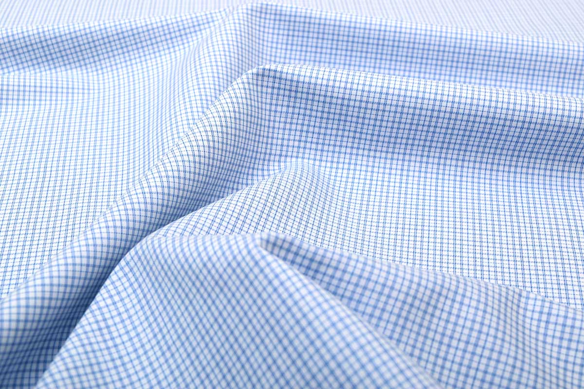 Blue Wrinkle Free Checks Shirt 806133 (1)