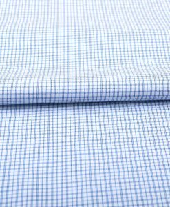 Blue Wrinkle Free Checks Shirt 806133 (2)