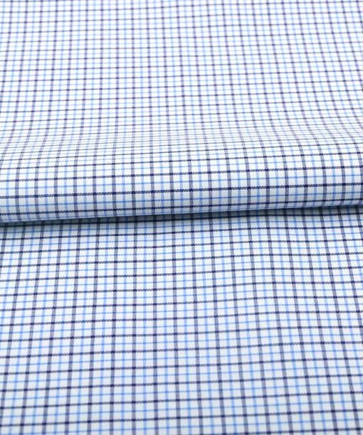 Blue Brown Wrinkle Free Graph Checks Shirt 806139 (2)