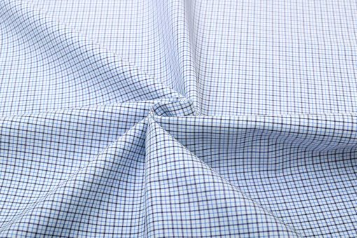 Blue Brown Wrinkle Free Graph Checks Shirt 806139 (3)