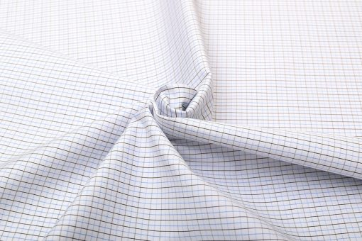 Blue and Black Wrinkle Free Checks Shirt 806141-(2)