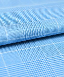 Sky Blue Glen Plaid Checks Shirt PAL-075-A