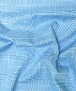 Sky Blue Glen Plaid Checks Shirt PAL-075-C