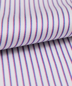 Purple Blue Dobby Stripes Shirt PAL-108-A