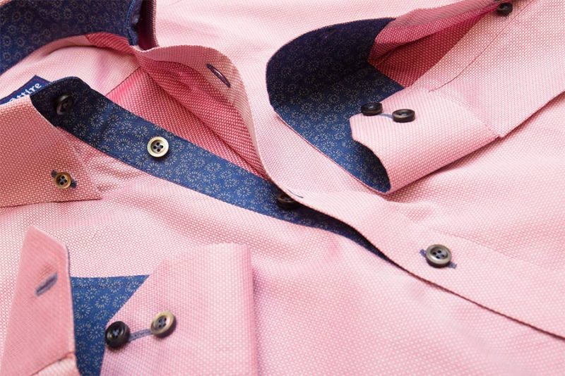 Pink Patterned Custom Dress Shirt - Made to Measure