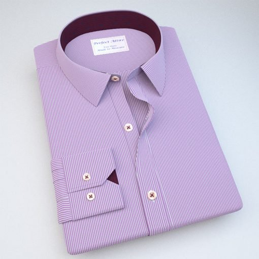 Lavender Pencil Stripes Dress Shirt 120093022