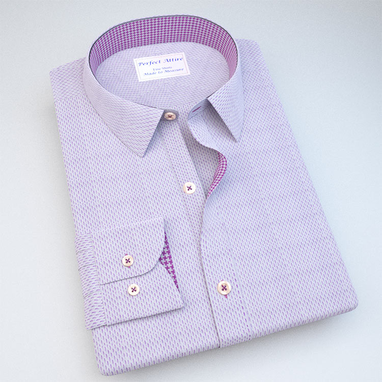 Pin Dash-Stripe Dress Shirt with Accent 120255121129
