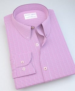 Pink Houndstooth Dress Shirt 121128