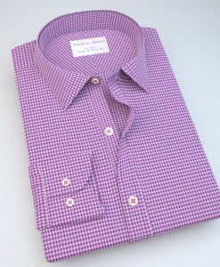 Purple Houndstooth Classic Dress Shirt 121129