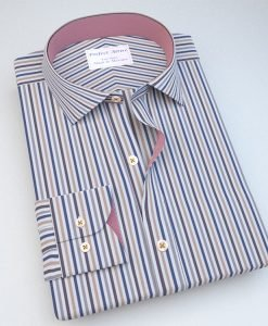 Quad Coloured Striped Dress Shirt 121168048