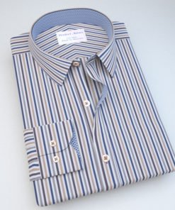 Blue & Green Striped Shirt with Accent121168121404