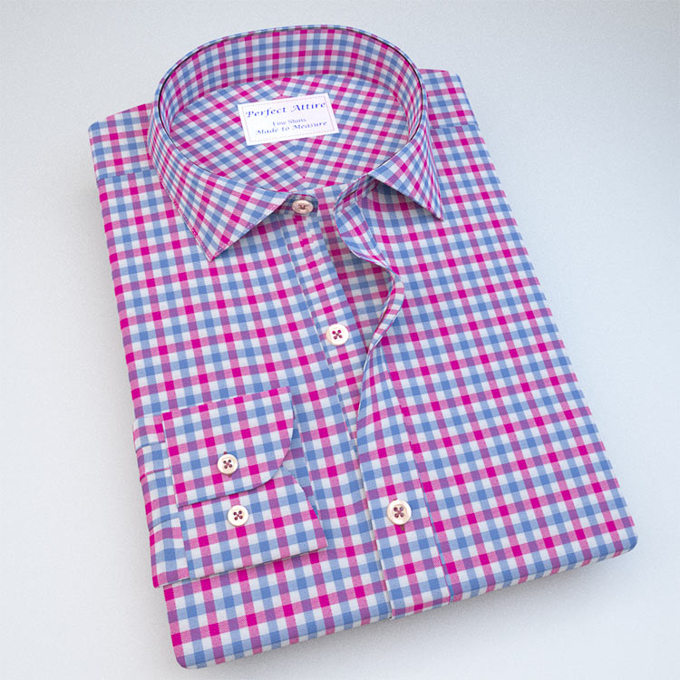 Green Gingham Dress Shirt with Accent 121190
