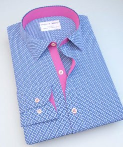 Blue Diamond Patterned Shirt 121398023