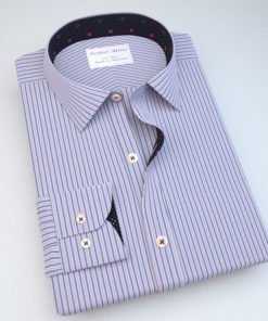 Blue & Pink Striped Dress Shirt 805143089