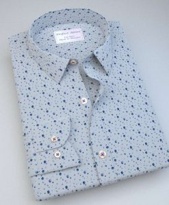 Blue Galaxy print Shirt 84004