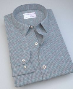 Aqua and Brown dots Shirt 84018