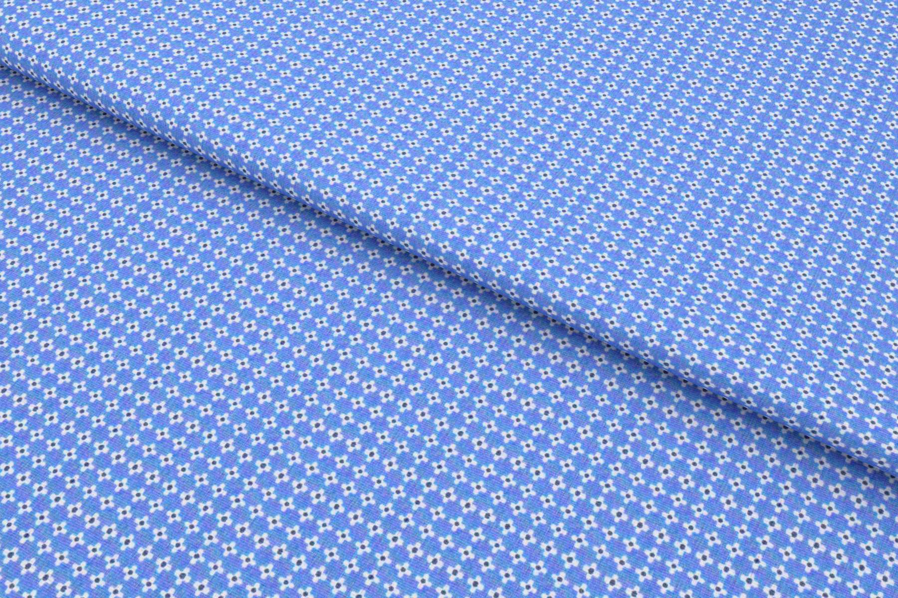 Blue Foulard print Shirt Fabric 84019
