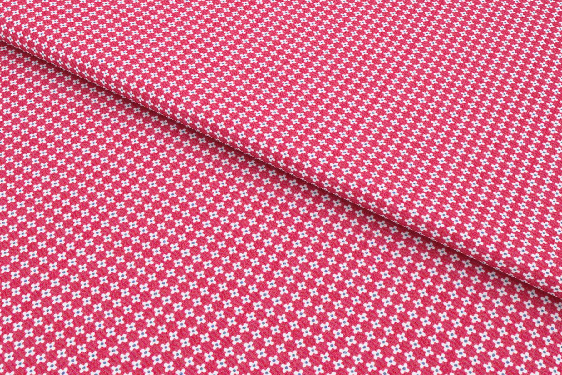Red Foulard print Shirt Fabric 84020