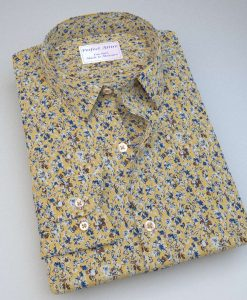 Yellow Floral Print Shirt 84024