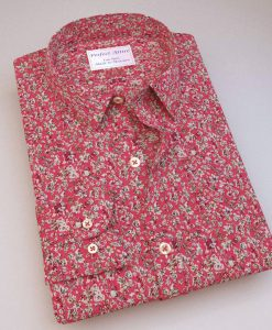 Red Floral Prints Shirt 84025.