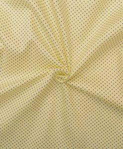 Yellow with Navy Blue dots Shirt Fabric PAB040a