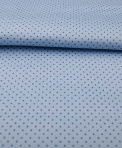 Blue with Navy Blue dots Shirt Fabric PAB041