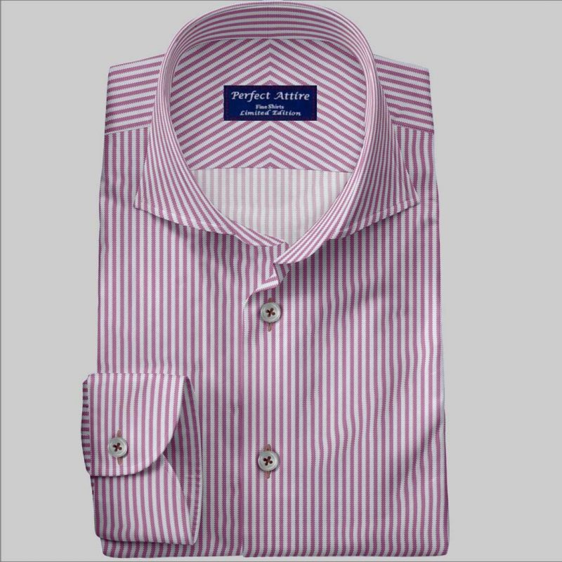 Striped Cotton Bespoke Dress Shirt customized and Made to Measure