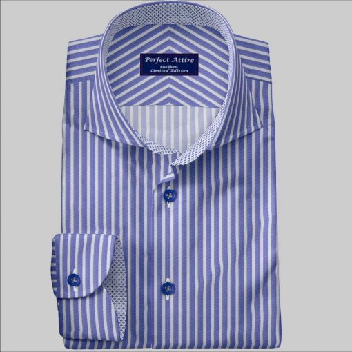 2ply Cotton Bespoke Dress Shirt customized and Made to Measure