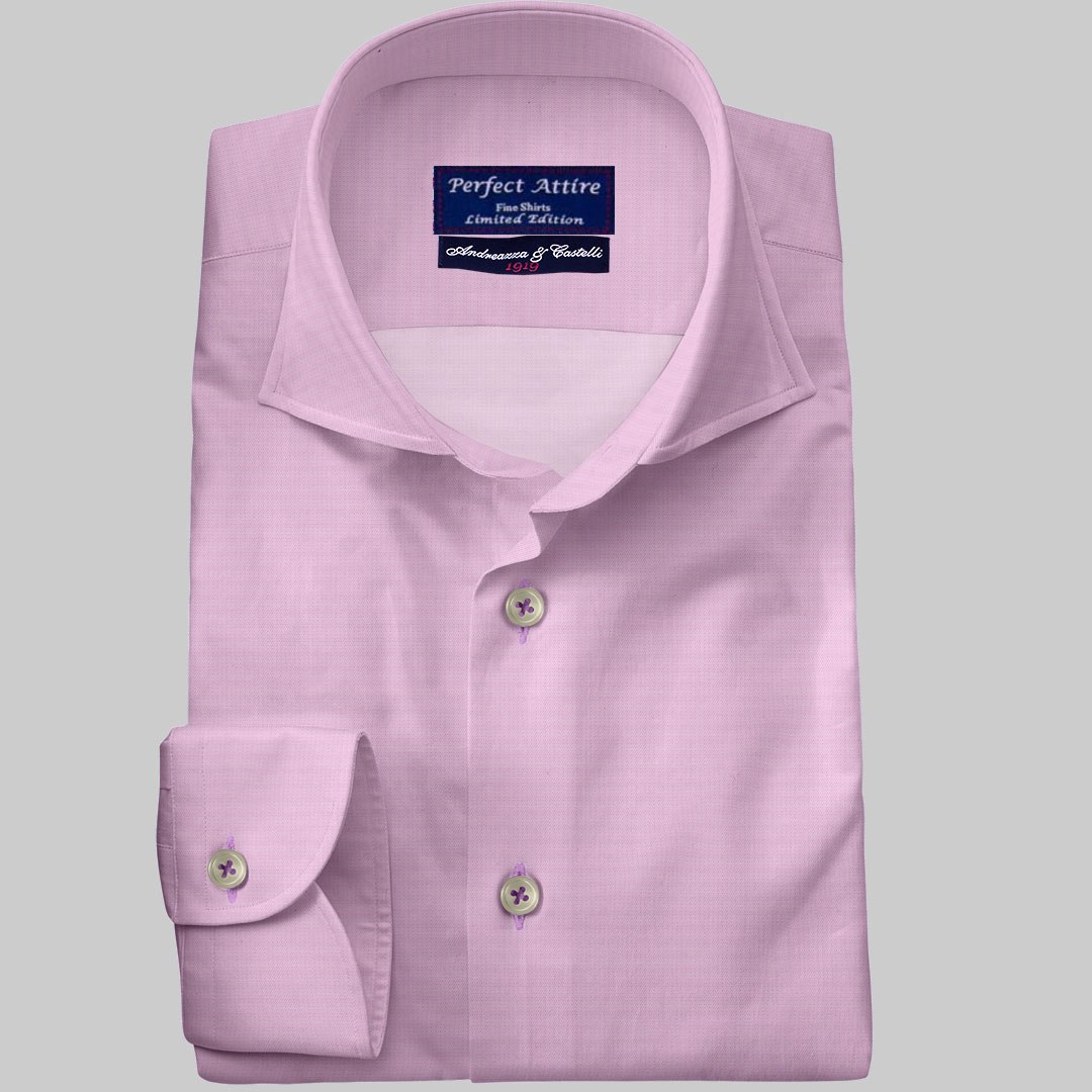 46a5cf4de6 Pink Tailored Bespoke Business Twill Shirt Carola Series from Perfect Attire  Singapore
