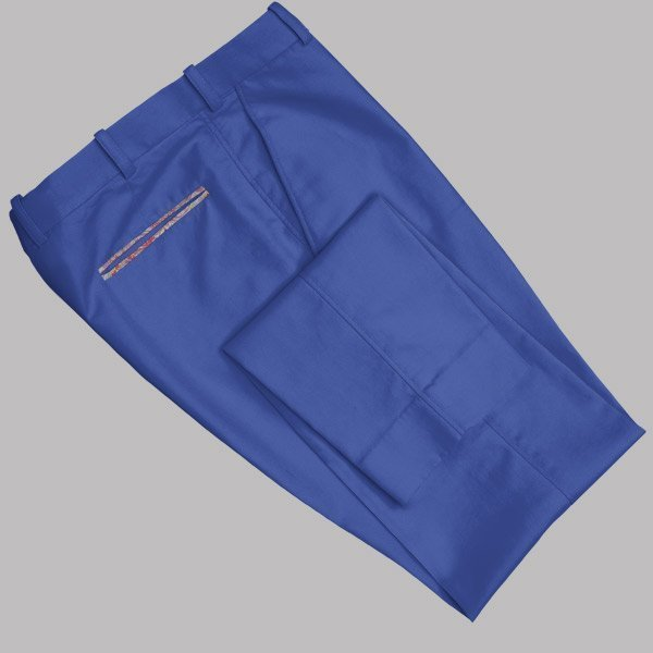 Tailored Navy Blue Cotton Chino by Perfect Attire Singapore