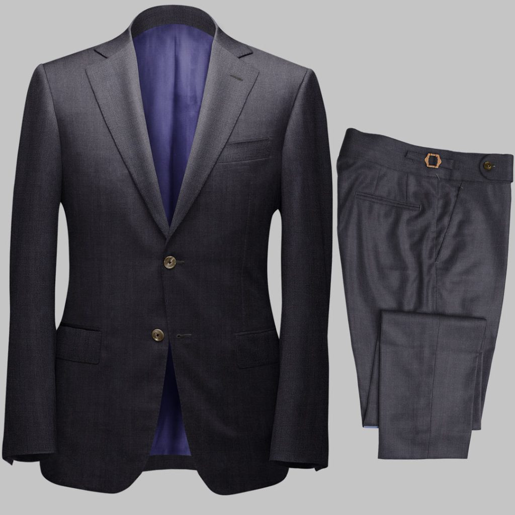 Bespoke Charcoal Grey Tailored 2Piece Suit custom made by Perfect Attire Singpaore
