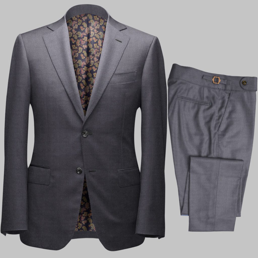 Bespoke Light Grey Tailored 2Piece Suit custom made by Perfect Attire Singpaore