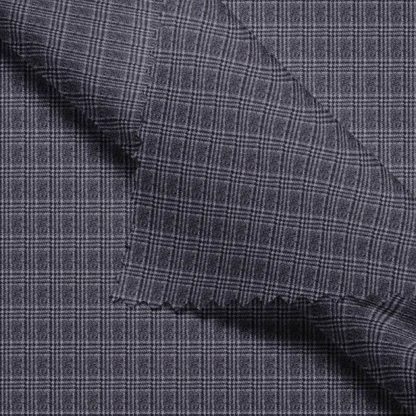 Grey Mini Windowpane- Holland & Sherry