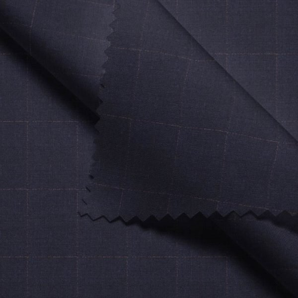 Navy Windowpane- Holland & Sherry