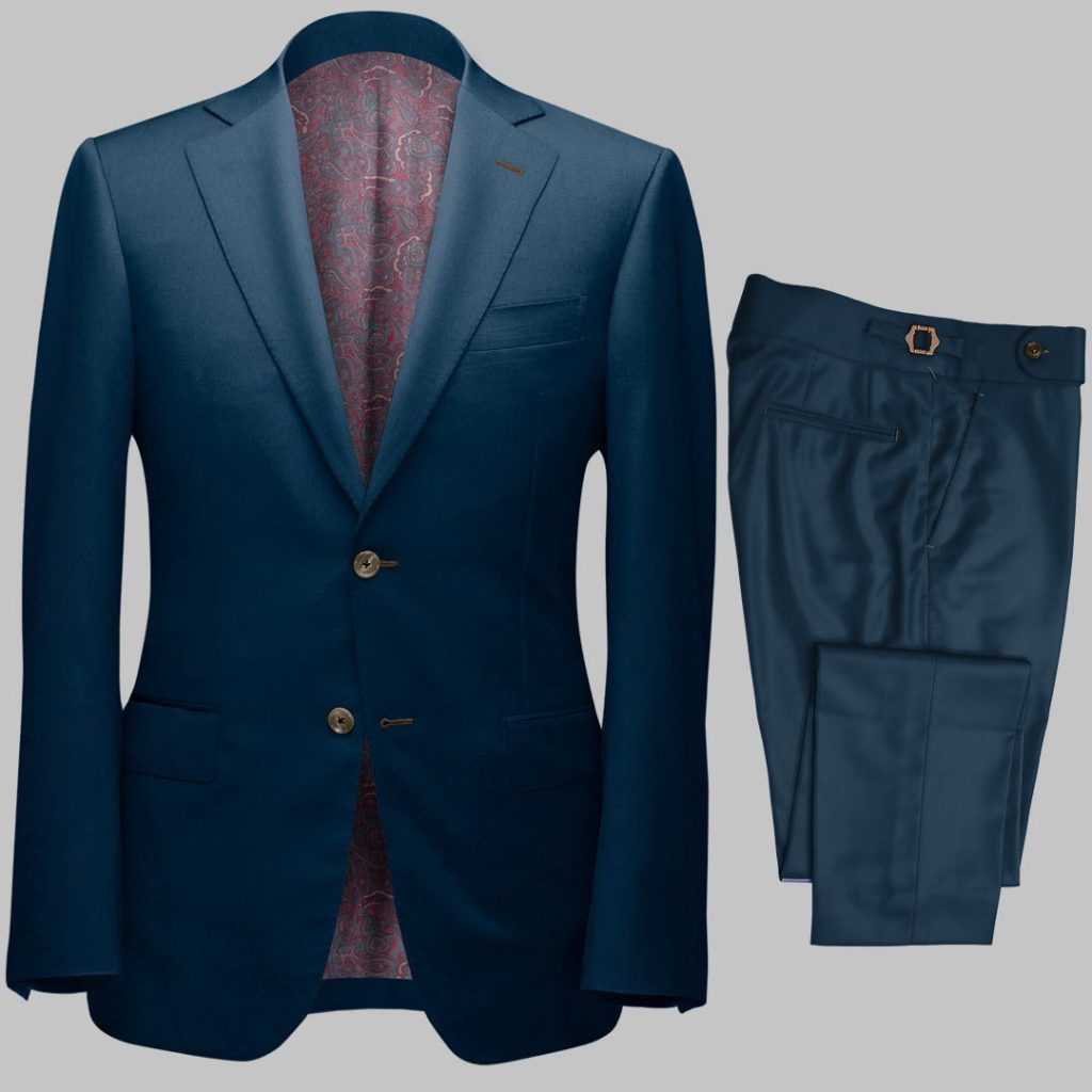 Bespoke Deep BlueTailored 2Piece Suit custom made by Perfect Attire Singpaore