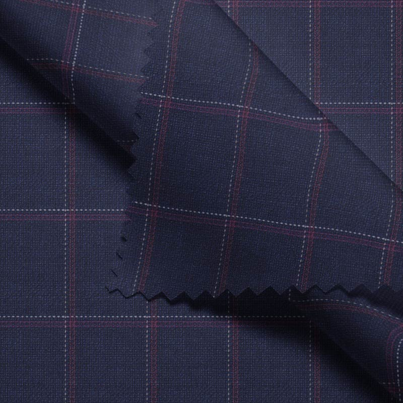 Blue Windowpane Hopsack- Montecarlo series